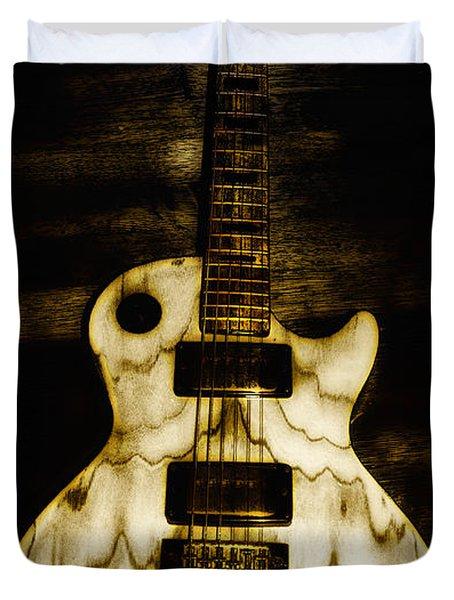 Les Paul Guitar Duvet Cover by Bill Cannon