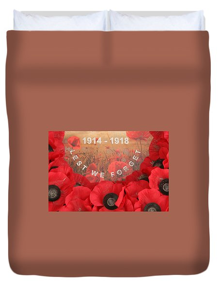 Duvet Cover featuring the photograph Lest We Forget - 1914-1918 by Travel Pics