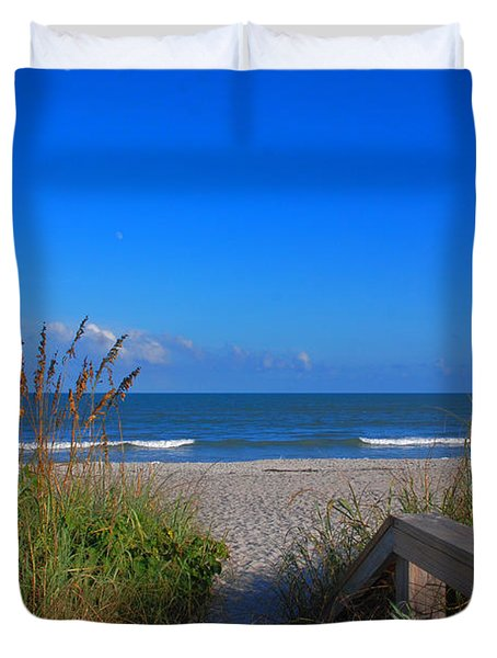 Lets Go To The Beach Duvet Cover by Susanne Van Hulst