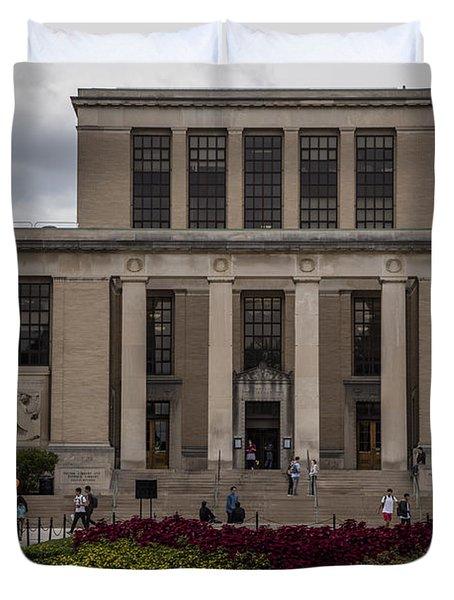 Library At Penn State University  Duvet Cover by John McGraw