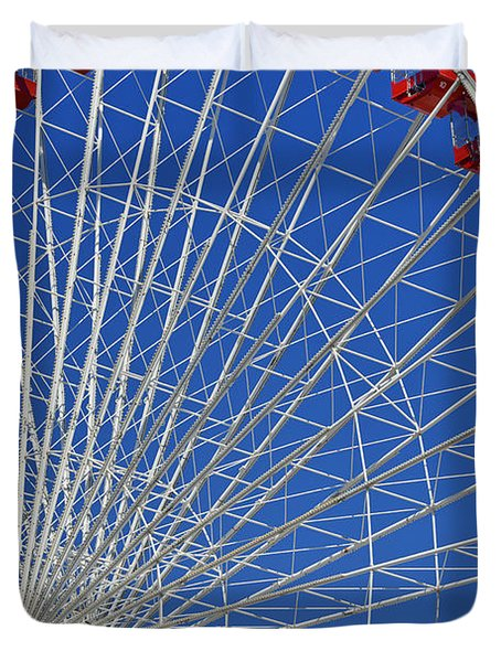 Life Is Like A Ferris Wheel Duvet Cover by Christine Till