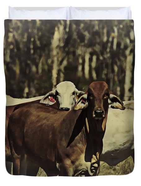 Life On The Farm V3 Duvet Cover by Douglas Barnard