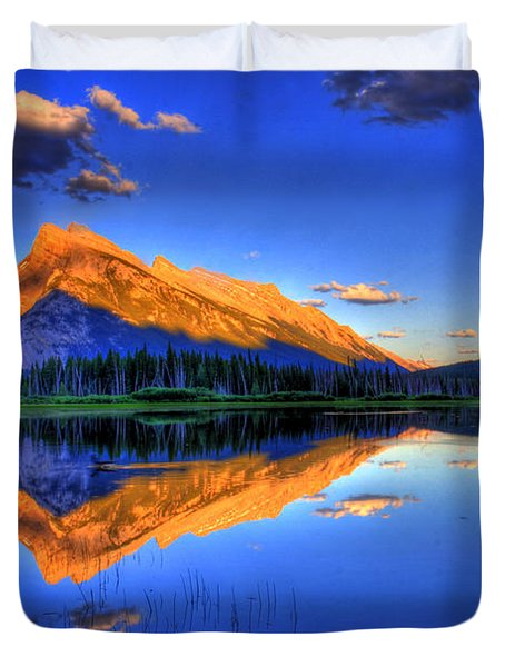 Life's Reflections Duvet Cover by Scott Mahon