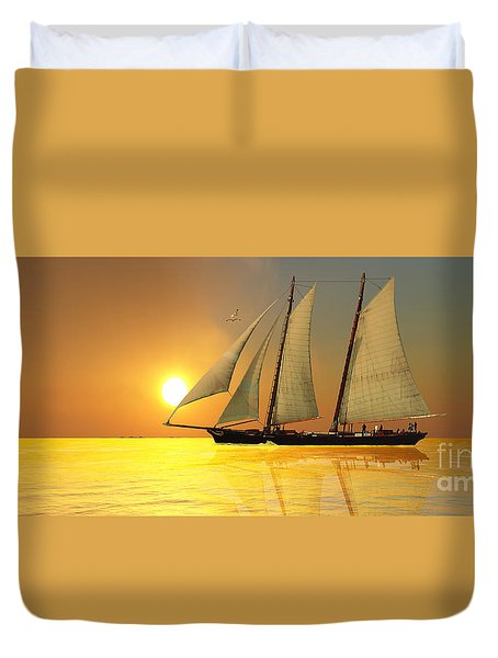 Light Of Life Duvet Cover by Corey Ford