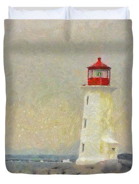 Lighthouse Duvet Cover by Jeff Kolker
