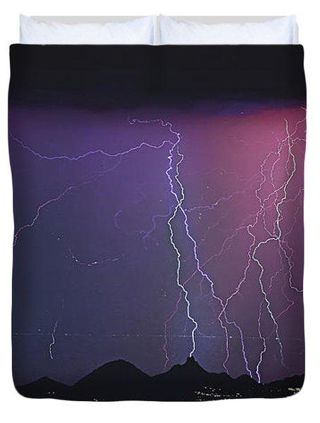 Lightning City Duvet Cover by James BO  Insogna
