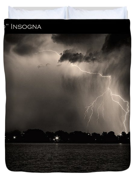Lightning Energy Poster Print Duvet Cover by James BO  Insogna