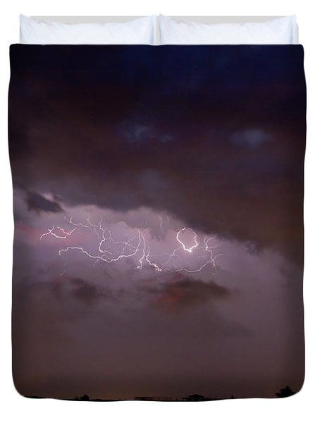 Lightning In The Sky Duvet Cover by James BO  Insogna