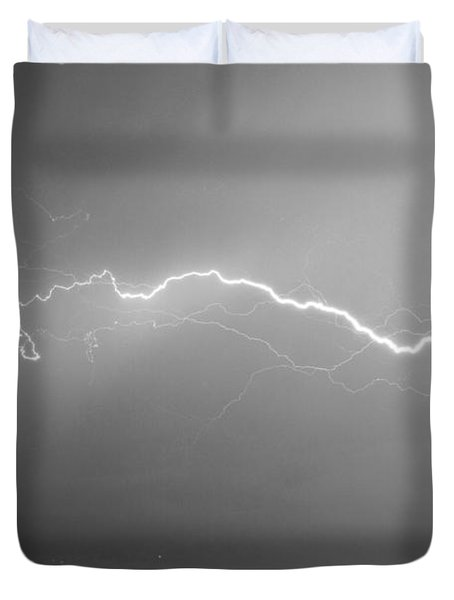 Lightning Over North Boulder Colorado  Ibm Bw Duvet Cover by James BO  Insogna