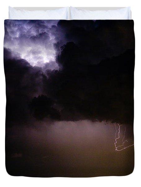 Lightning Thunderstorm Cell 08-15-10 Duvet Cover by James BO  Insogna