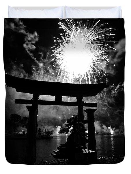 Lights Over Japan Duvet Cover by David Lee Thompson