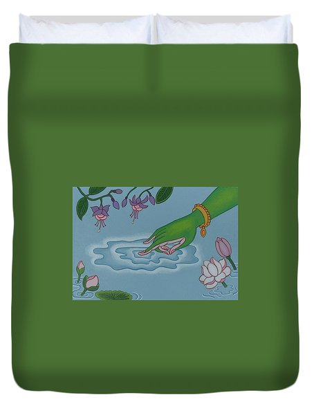 Like Writing On Water 3 Duvet Cover by Andrea Nerozzi