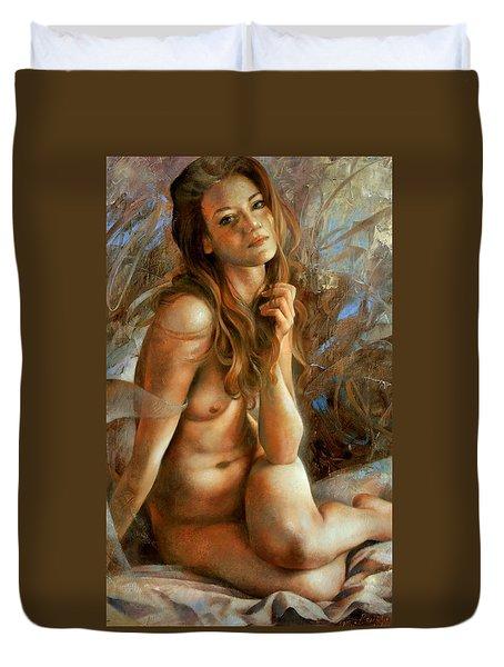 Lilium Duvet Cover by Arthur Braginsky