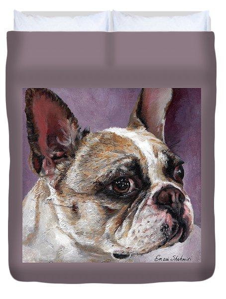 Lilly The French Bulldog Duvet Cover by Enzie Shahmiri