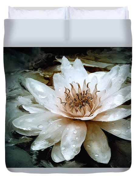 Lily Light Duvet Cover by Joel Payne