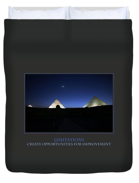 Limitations Create Opportunities For Improvement Duvet Cover by Donna Corless