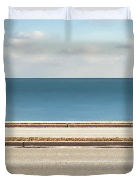 Lincoln Memorial Drive Duvet Cover by Scott Norris