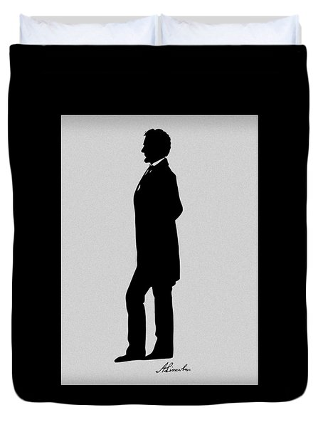 Lincoln Silhouette and Signature Duvet Cover by War Is Hell Store
