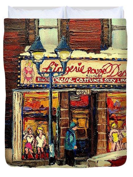 LINGERIE ROUGE DESIRE Duvet Cover by CAROLE SPANDAU