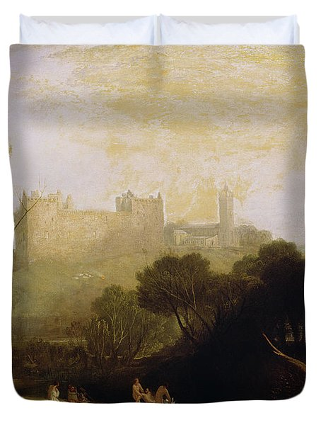 Linlithgow Palace Duvet Cover by Joseph Mallord William Turner