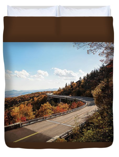 Linn Cove Viaduct Duvet Cover by Deborah Scannell