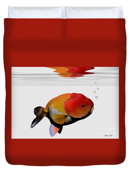 Lion-head Goldfish Duvet Cover by Corey Ford