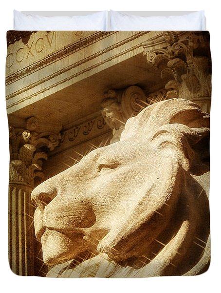 Lion In The Sun Duvet Cover by Jon Woodhams