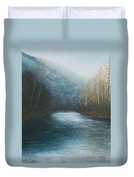 Little Buffalo River Duvet Cover by Mary Ann King