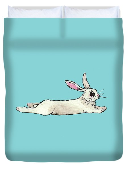 Little Bunny Rabbit Duvet Cover by Katrina Davis