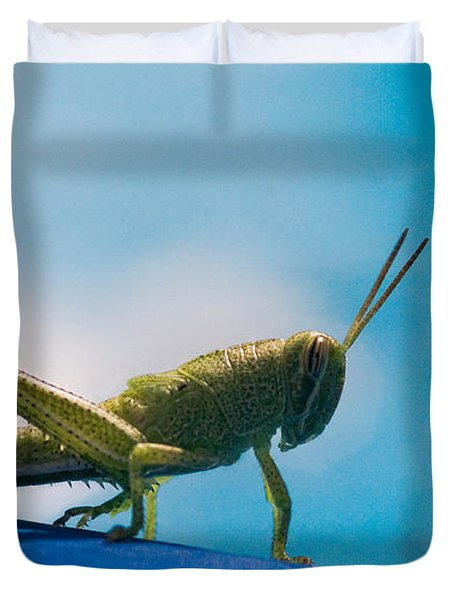 Little Grasshopper Duvet Cover by Christopher Holmes