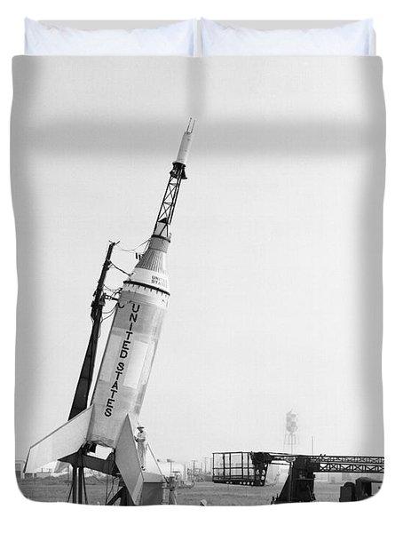 Little Joe On Launcher At Wallops Duvet Cover by Stocktrek Images
