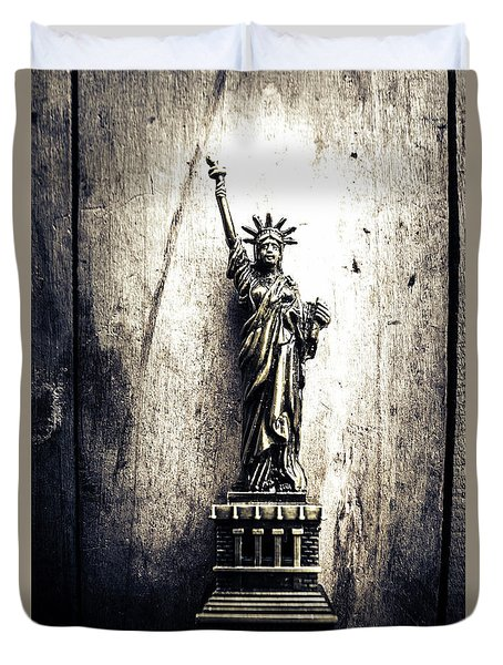 Little Lady Of Vintage Usa Duvet Cover by Jorgo Photography - Wall Art Gallery