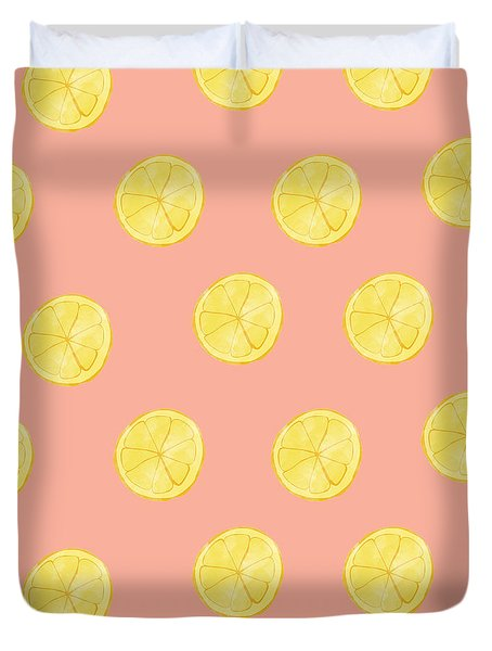 Little Lemons Duvet Cover by Allyson Johnson