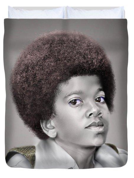 Little Michael Duvet Cover by Reggie Duffie