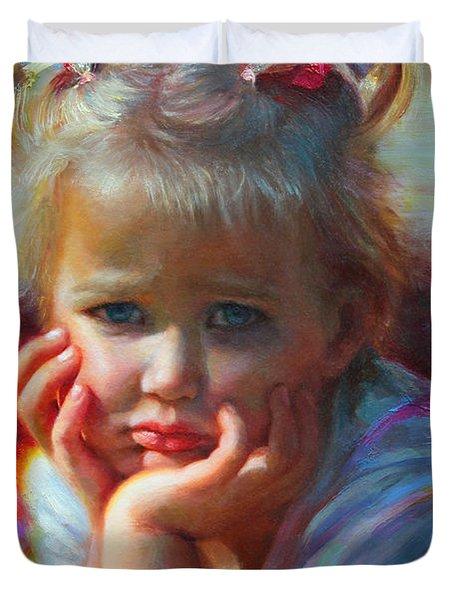 Little Miss Sunshine Duvet Cover by Talya Johnson