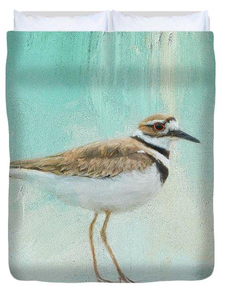 Little Seaside Friend Duvet Cover by Jai Johnson