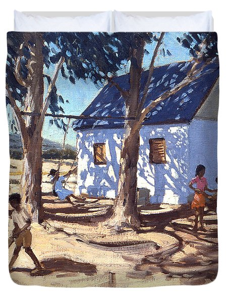 Little White House Karoo South Africa Duvet Cover by Andrew Macara