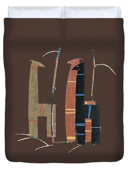 Llamas T Shirt Design Duvet Cover by Bellesouth Studio