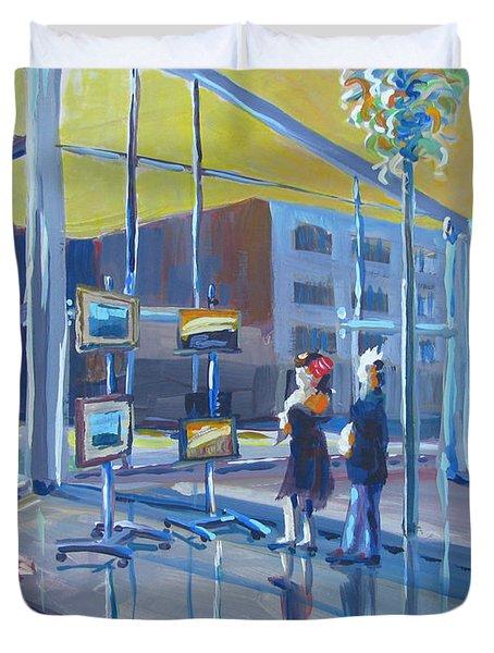Lobby Gallery Duvet Cover by Vanessa Hadady BFA MA