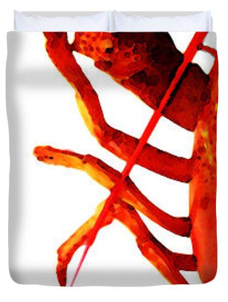 Lobster - The Left Side Duvet Cover by Sharon Cummings