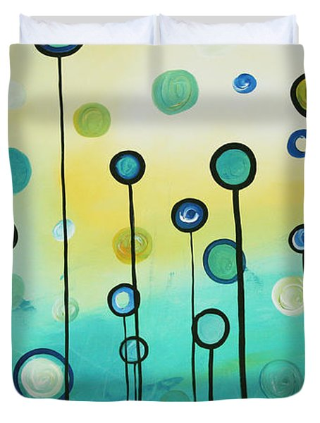 Lollipop Field By Madart Duvet Cover by Megan Duncanson
