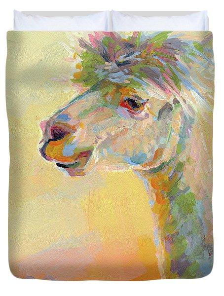 Lolly Llama Duvet Cover by Kimberly Santini
