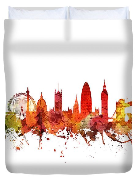 London Cityscape 04 Duvet Cover by Aged Pixel