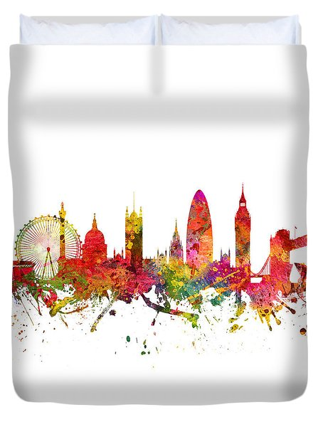 London Cityscape 08 Duvet Cover by Aged Pixel