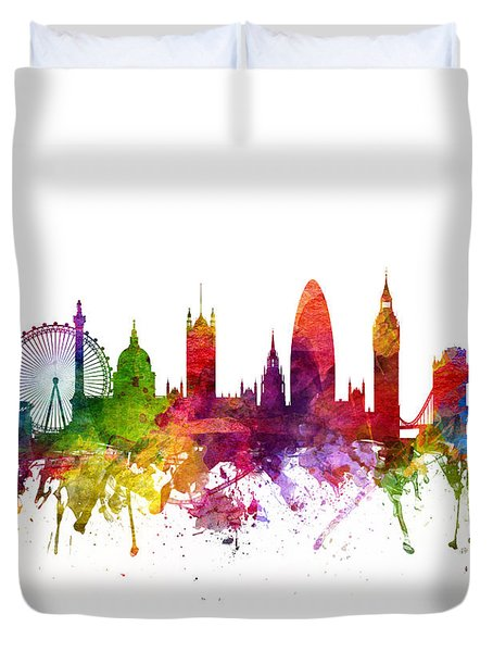 London England Cityscape 06 Duvet Cover by Aged Pixel