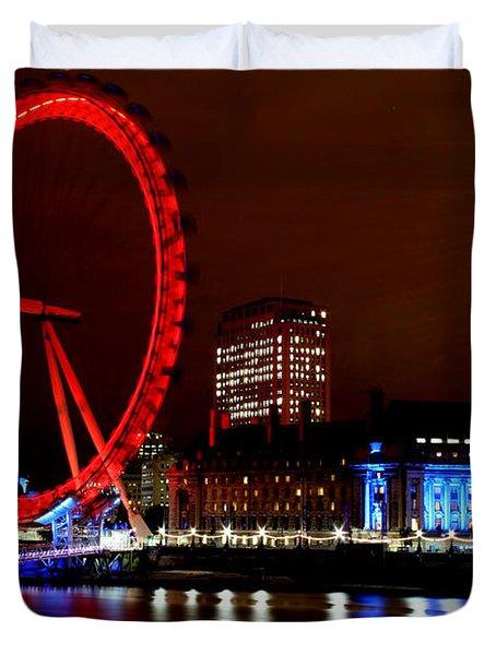 London Eye Duvet Cover by Heather Applegate