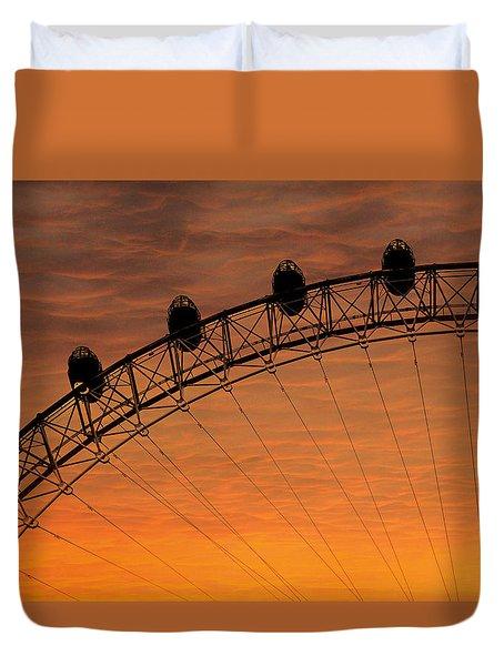 London Eye Sunset Duvet Cover by Martin Newman