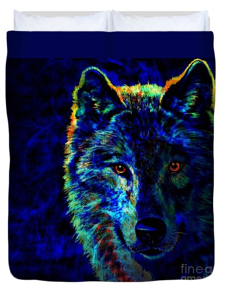 Lone Wolf Duvet Cover by WBK