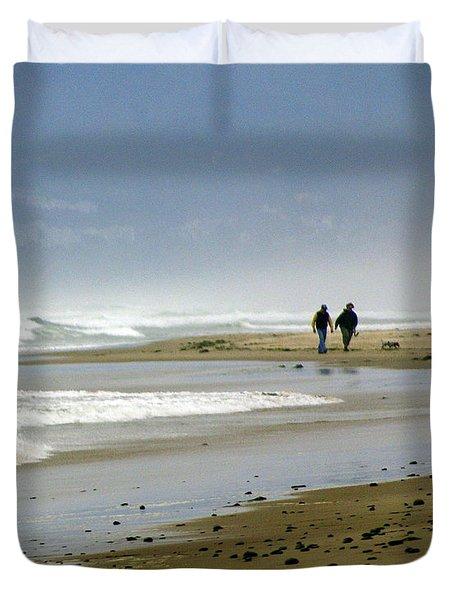 Lonly Beach Duvet Cover by Marty Koch