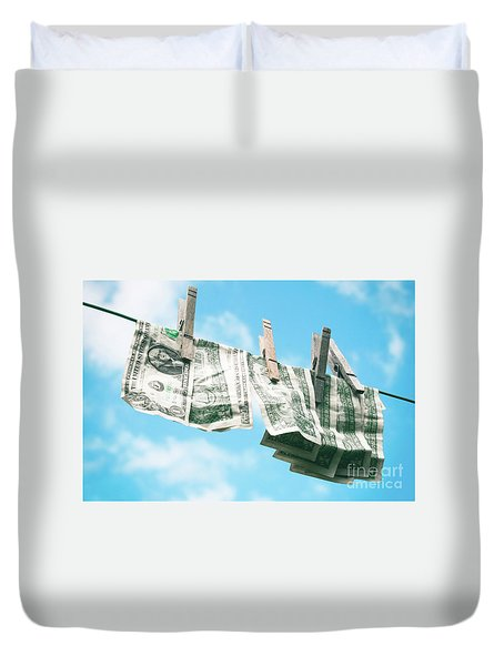 Look How Much A Dollar Buys Duvet Cover by Sharon Mau